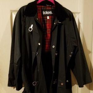 Totes Raincoat Jacket Snap-up with Toggles